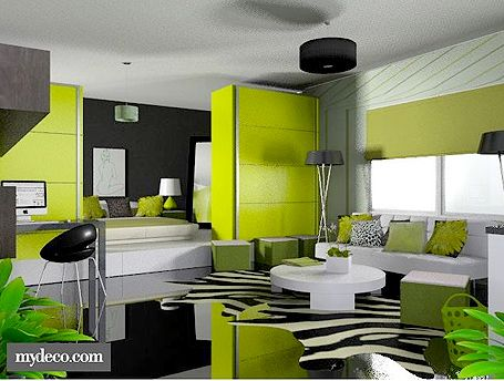 google image result for httpmydecocomblogwp contentuploads2011 05black and green 3d living roomjpg favorite places spaces pinterest green - Living Room Colour Schemes 2011