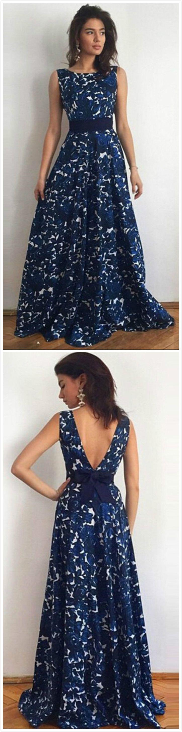 Women's Sleevelss Floral Print Maxi Dress