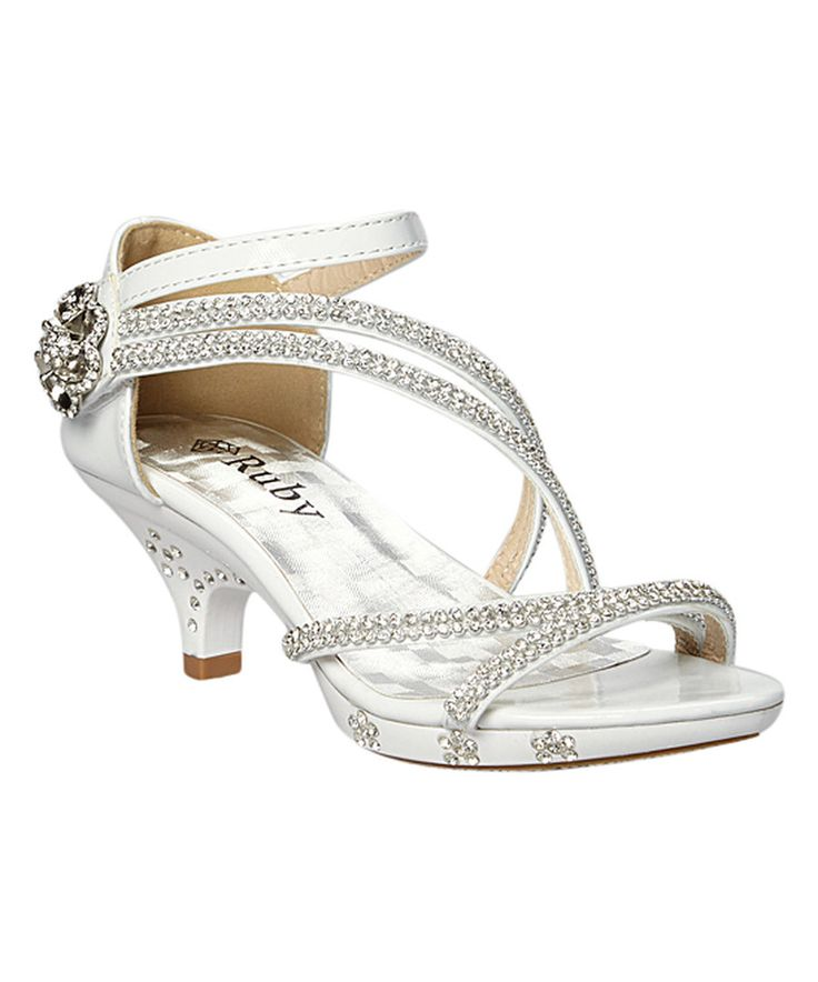 Look at this Ruby Shoes White Sparkle Laura Sandal on #zulily today!