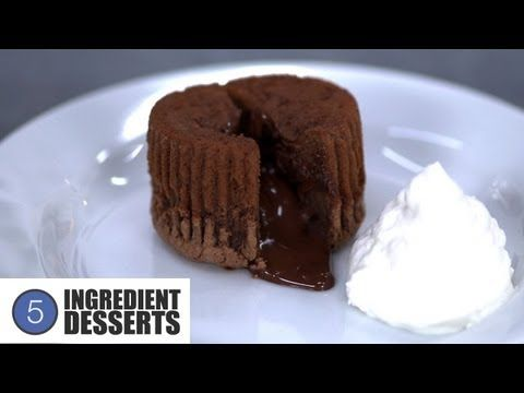 ▶ Chocolate Lava Cakes | 5 Ingredient Desserts - YouTube