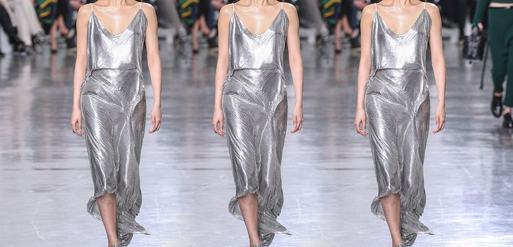 Chain mail dress: Los metálicos están haciendo lo suyo. La tendencia más fuerte del… #Moda #Tendencias #chain_mail #Fashion #paco_rabanne