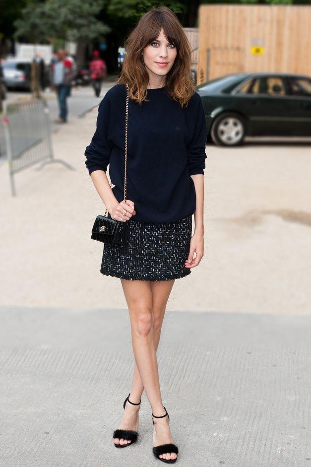 Alexa Chung in Paris: Fashion Weeks, Miniskirt,  Minis, Chanel, Street Style, Alexachung, Alexa Chung, Hair, Haute Couture
