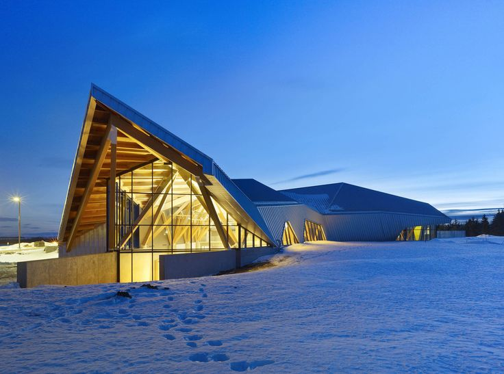 Philip J. Currie Dinosaur Museum is sustainably built from ...