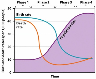 how to solve birth rate and death rate