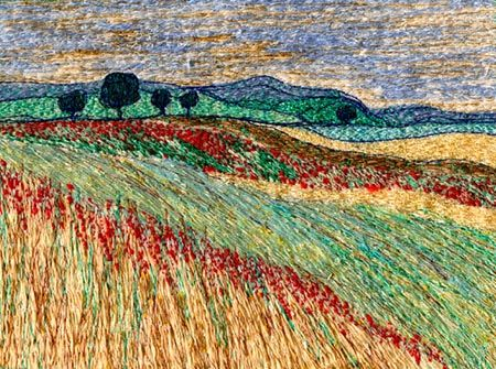 Carol Naylor (free machine embroidery artist link on Landscape theme)