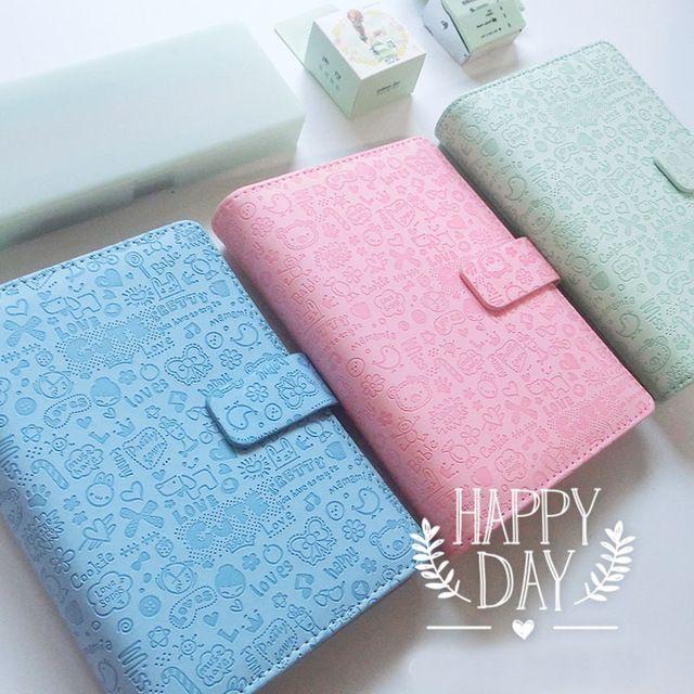 Hot Sale Stonebook Cute Cartoon A5 A6  A7 Spiral Loose-leaf Notebook Candy Item Notebook