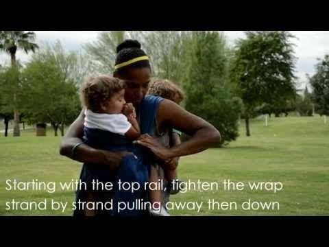 Jeden šátek od velikosti 6 + RS kroužek: Symmetrical Half Jordan's Back Carry and Ring Finish with Rebozo Front Carry - YouTube