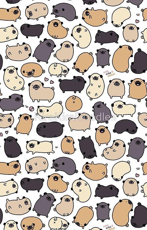 Pug Life Doodle