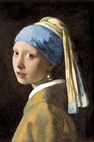 """Vermeer's portrait   """"Girl With a Pearl Earring"""""""