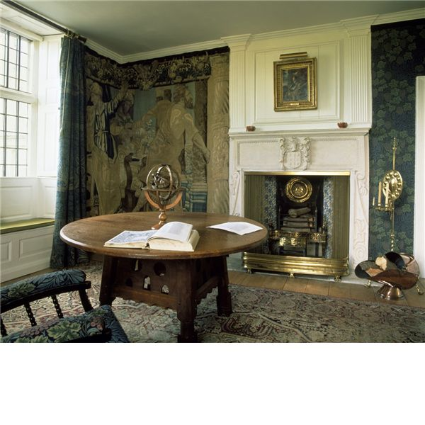 The Tapestry Room At Kelmscott Manor, Where Rossetti Stayed And Worked. The  Table Is By Phillip Webb.