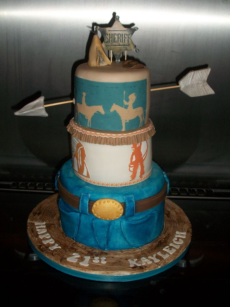 Cowboys And Indians Cake Ideas