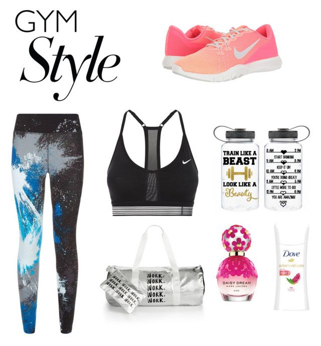 """""""Gym Style"""" by ashworthjessica on Polyvore featuring NIKE, Celebrate Shop and Marc Jacobs"""