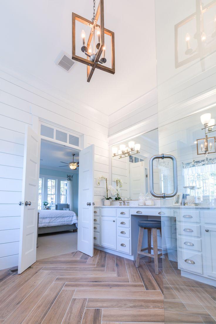 Turnbury chandelier, Lucky bath & vanity shown | Stephen Alexander Homes, Susan Wilson Interiors