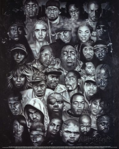 Rap Gods POSTER hip-hop Eminem Biggie Nelly Jay-z 2pac Posters at AllPosters.com.
