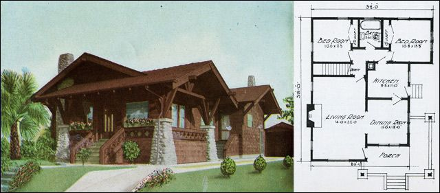 1915 ready built house company of portland oregon plan for Ready built homes floor plans