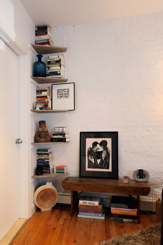 Ailin's Serene TriBeCa Abode | Shelf ideas, Corner space ...