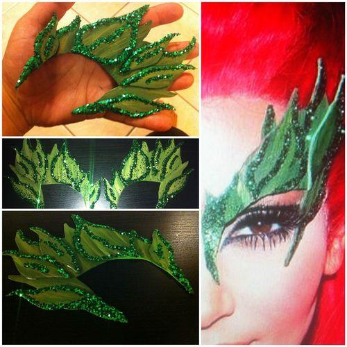 Bane's Poison Ivy Sexy Eyebrows Mask Costume Kim K Leaf Elf Green Custom | eBay