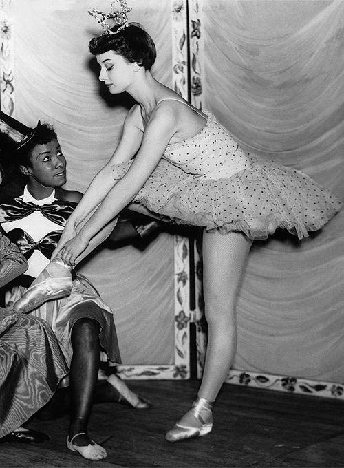Audrey Hepburn, 1949.