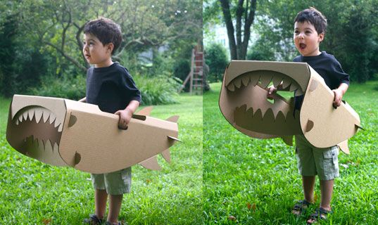 I am making 2 of these so me and Harper can chase each other around the yard this summer!: Cardboard Animal, Cardboard Projects, Cardboard Sharks, Crafts Cardboard, Cardboard Toys, Diy Cardboard, Kids Ca, Cardboard Plays, Cardboard Design