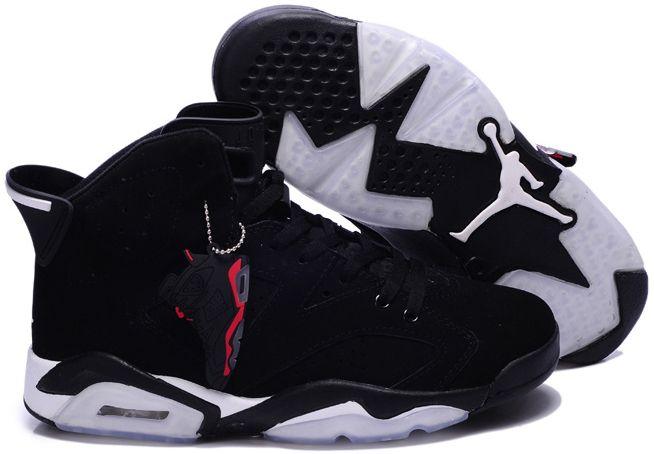 Authentic Cheap Air Jordan 6 Shop with Confidence white logo black all shoe  for Authentic Cheap Air Jordans 6 vi basketball sneaker hot sale