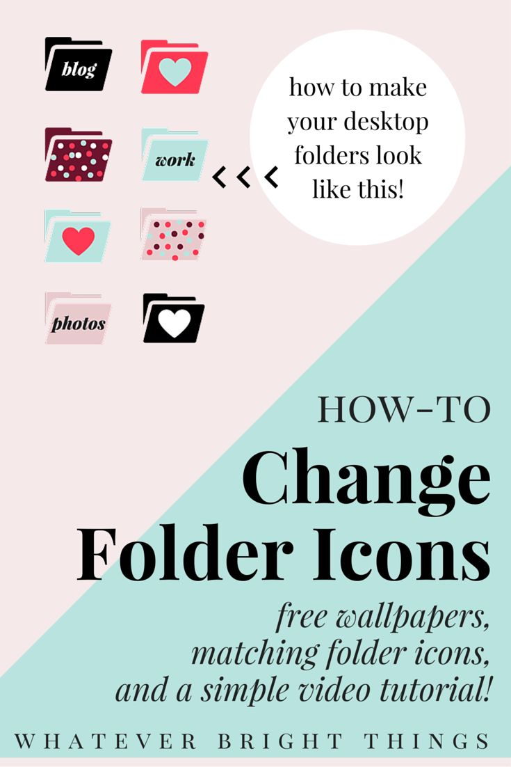 Decorate Your Desktop! Learn how to replace those blah blue folders with your own custom icons & photos, or download one of my free February Wallpapers & matching Folder Icons!