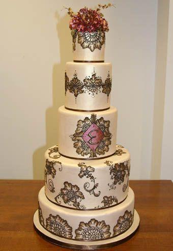 BODAS DE ALTA COSTURA: Es Tendencia: pasteles de boda pintados a mano