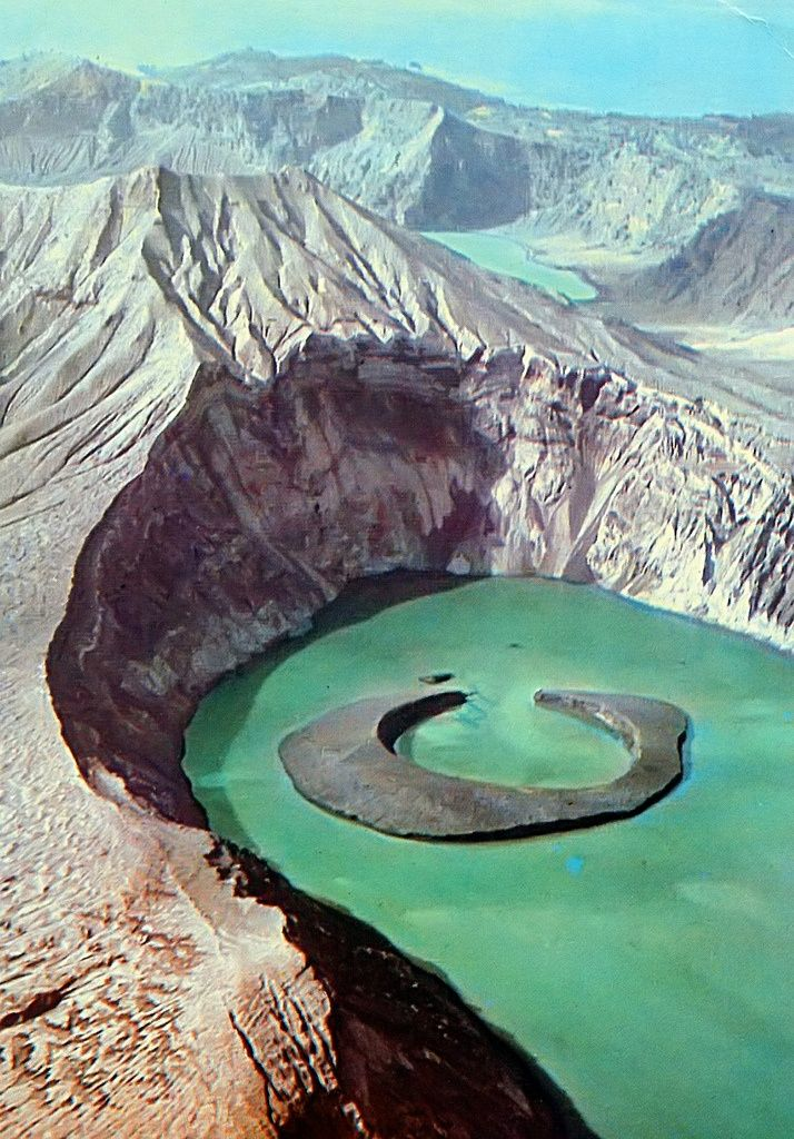 Taal Volcano, Luzon, Philippines - I've been to Tagaytay but I've never seen Taal, Volcano this close. I wonder what makes the water greenish? Algae?