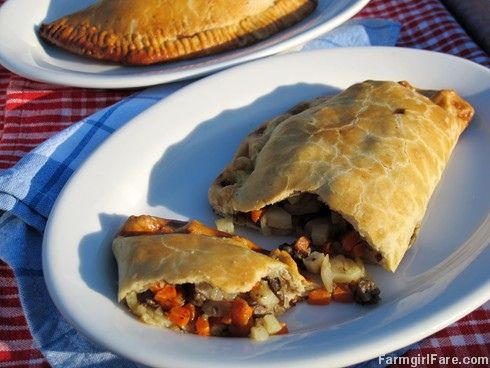 Recipe: Jamie Oliver's Classic English Cornish Pasties with beef, onion, potatoes, and carrots - from Farmgirl Fare