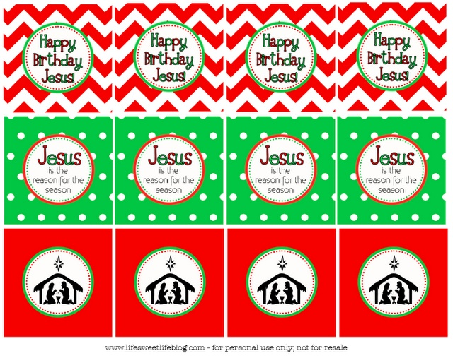 Life {Sweet} Life: Happy Birthday Jesus! cupcake toppers {Free Printable}
