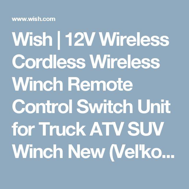 Wish | 12V Wireless Cordless Wireless Winch Remote Control Switch Unit for Truck ATV SUV Winch New (Veľkosť: 12V)
