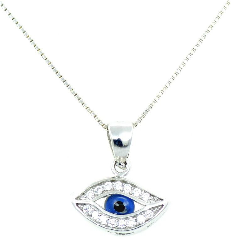 #evileye #necklace from YES Jewels Silver Store  for all necklaces click https://www.yesjewels.com/en/13-necklaces