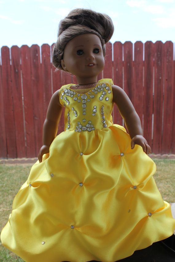 American Girl Doll Gown - Custom made to any color or style you want