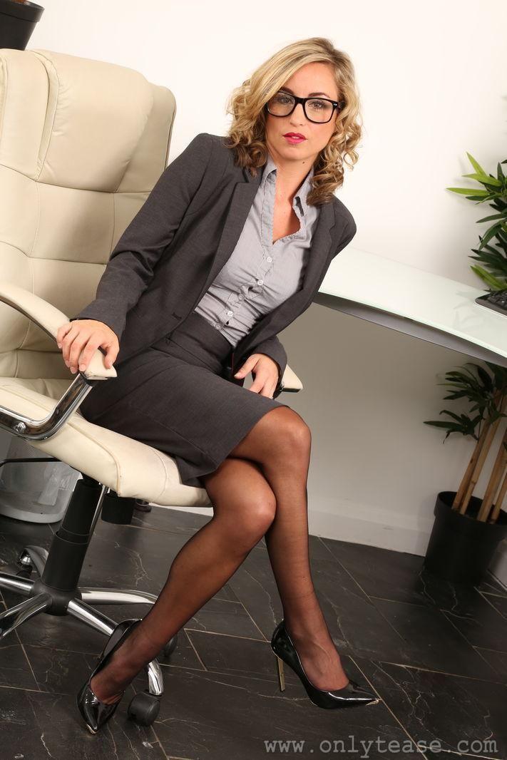 Business pussy office slut she