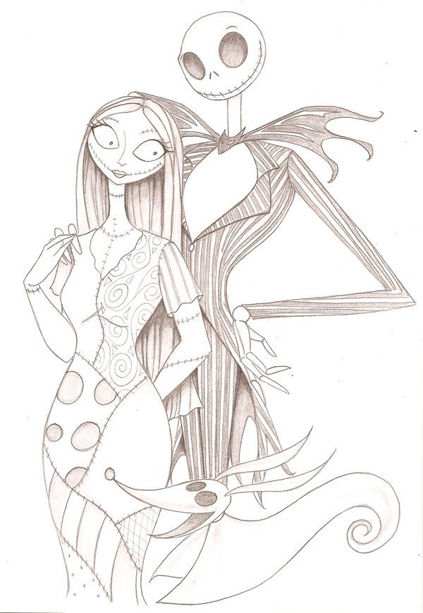 Jack and Sally with Zero ~ Anyae