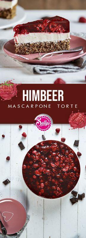 Super einfach und schnell Himbeer-Mascarpone-Torte. Durch die Haselnüsse u …