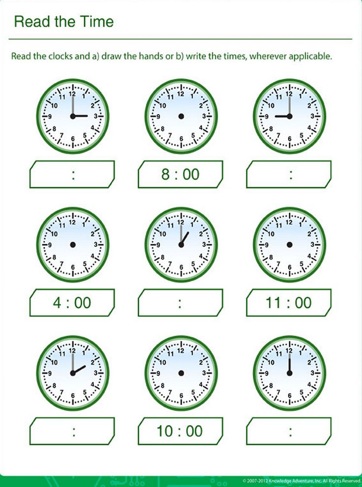 Learn Clock Reading for Kids | Clock worksheets, Math ...