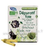 Dépuratif foie Artichaut Radis noir et hydrolat de Thym Dose Nature n°1 Phytofrance