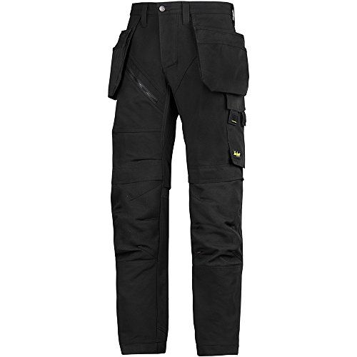 "From 88.56:Snickers 62030404048 Size 48 ""ruffwork"" Work Trousers With Holster Pockets - Black 