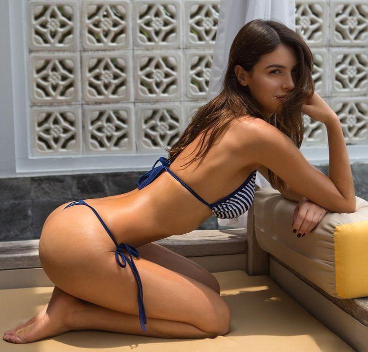 Beautiful skinny brunette celeste star fucks herself