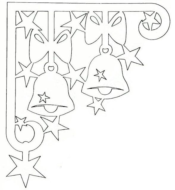 ЖИЗНЬ ПРЕКРАСНА - блог Наталии Юшковой.: Новогодние украшения из бумаги на окна, шаблоны своими руками. Часть 4.