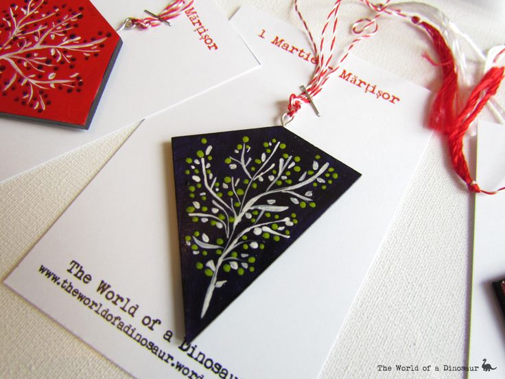 Hand painted tokens for 1st of March. #Mărțișor #Token #Tradition #handmade #handpainted Read here the tradition of the 1st of March: http://theladysdowry.wordpress.com/2014/02/27/1st-of-march-martisor-and-baba-dochia/