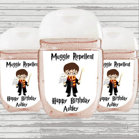 Harry Potter Party Favor Hand Sanitizer Label Digital File