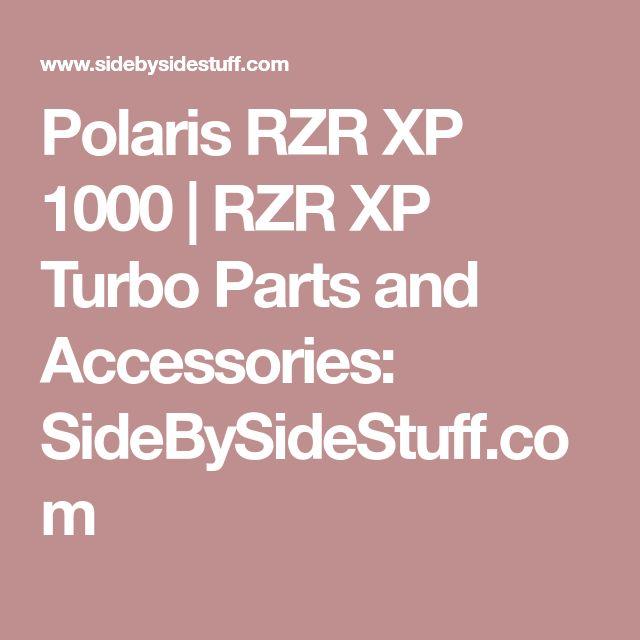 Polaris RZR XP 1000 | RZR XP Turbo Parts and Accessories: SideBySideStuff.com