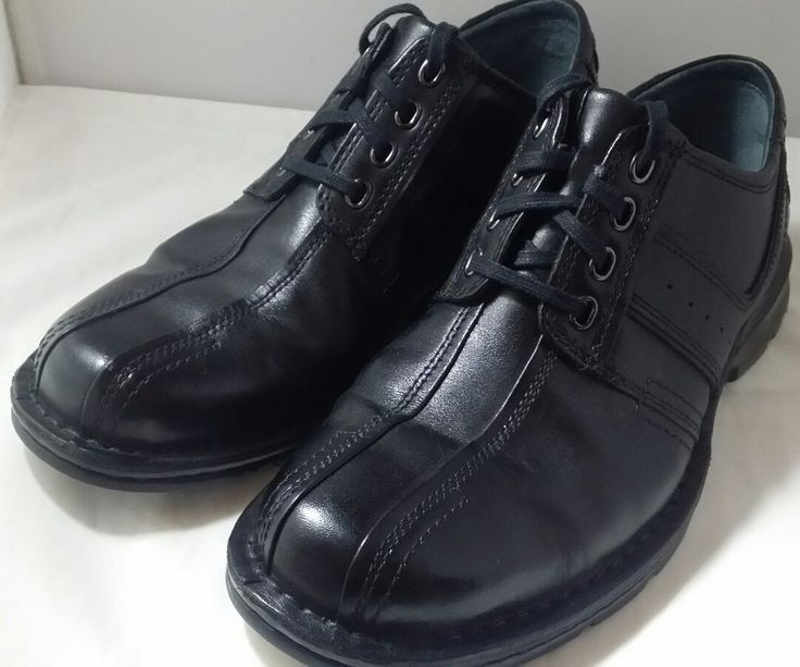 Clarks Mens Leather Black Anthracite Darby Gtx Lace Up Wing Tip Shoes Color 100 genuine