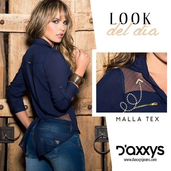 Para el look del día te recomendamos nuestra blusa Raquel, que con su diseño en chaliss y malla tex que te brindarán toques de sutileza a tu estilo. #DaxxysRomanticFall