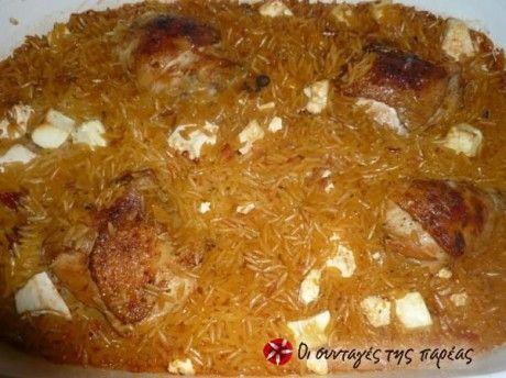 Κοτόπουλο γιουβετσάκι με σπυρωτό κριθαράκι
