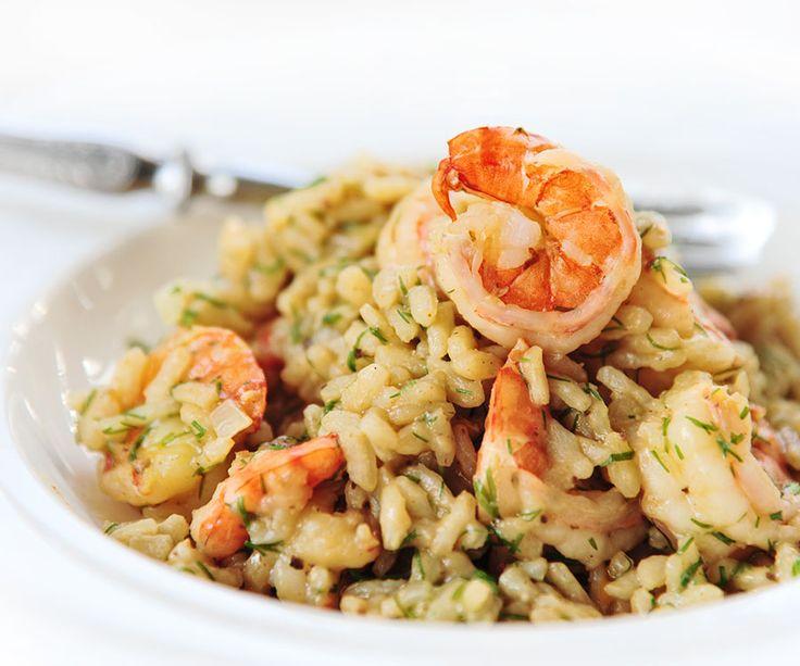 Risotto d'orge aux crevettes et champignons homard | Aliments Marina Del Rey Foods