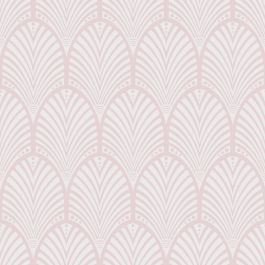 Gatsby Art Deco Wallpaper Dusky Pink Holden Decor 65252 This stylish Gatsby Art Deco Wallpaper features a retro pattern with a modern twist. The Art Deco inspired arch design is made up of a raised, matte cream overlaid on to a dusky pink background with a gold pearlescent sheen which has been infused with shimmering partials to give a multi-tonal finish. Ideal for living rooms, bedrooms and hallways, use this opulent wallpaper to create a feature wall or to decorate an entire room. A…