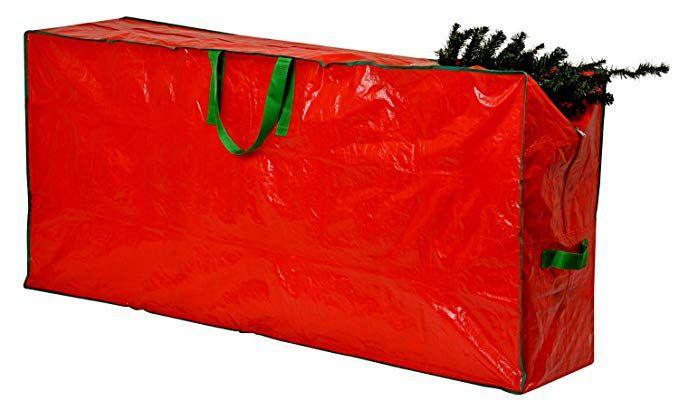 Amazon Com Christmas Tree Storage Bag 48 X 15 X 20 Extra Large Zippered Bag With 2 Re Christmas Tree Storage Bag Christmas Tree Storage Holiday Storage