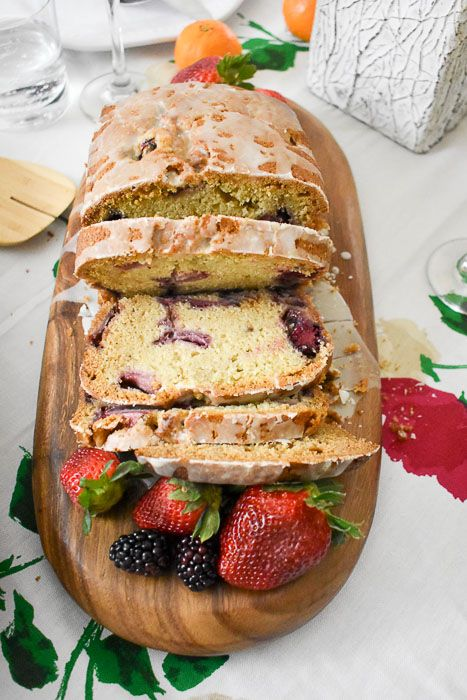 This lemon berry quick bread is filled with fresh strawberries, blackberries, and lemon zest; and the light sweetness of the bread is perfectly balanced with an easy tart lemon glaze. Recipe by Dash of Jazz